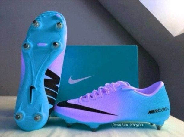 Blue Purple Mercurial Vapor Nike Black Edit Tags Soccer Shoes Football Boots Soccer Cleats