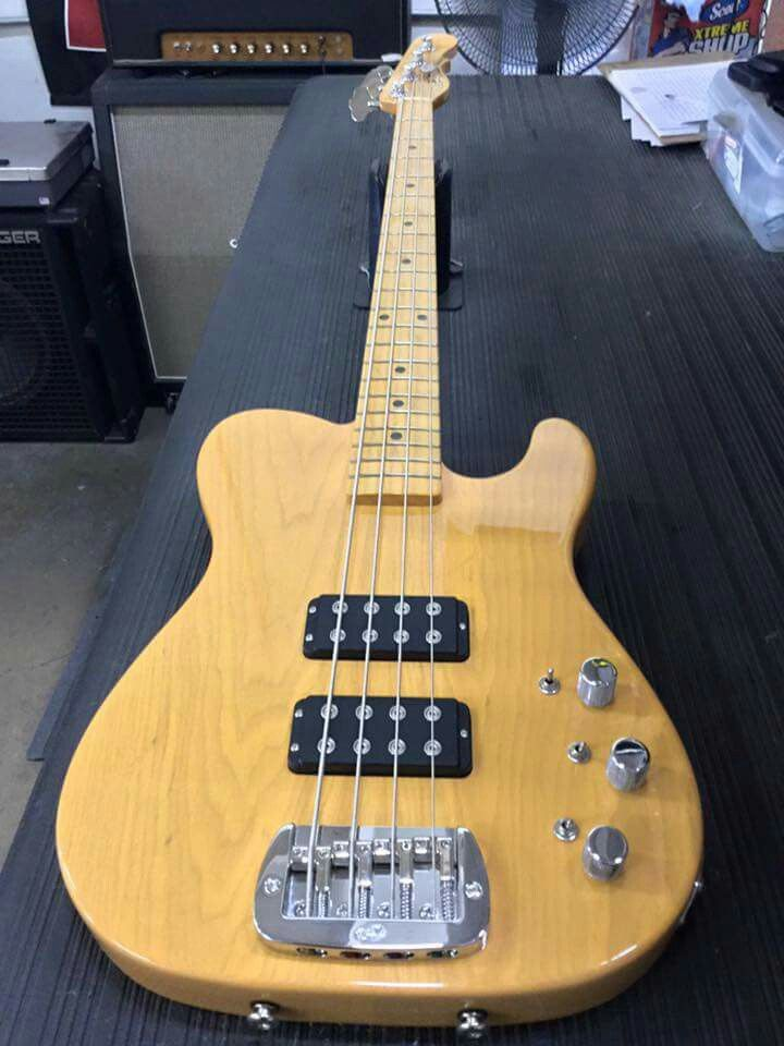 Here's a special production run ASAT Bass in nitrocellulose