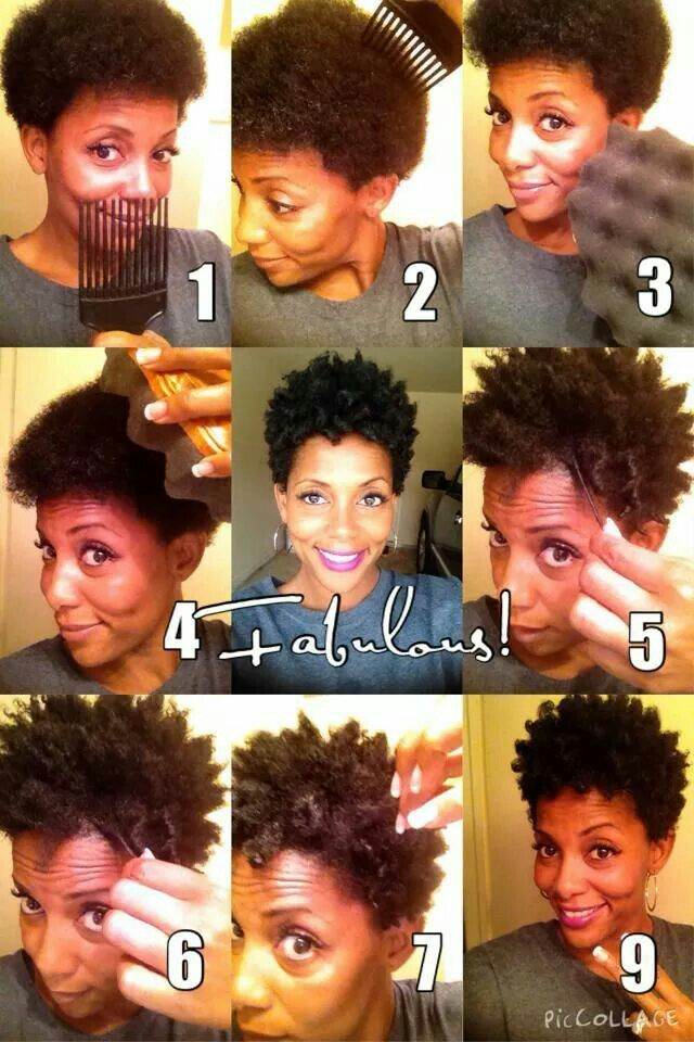 Sponge Coils Lightly Spritz Hair With Water Buttercream