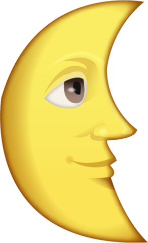 Last Quarter Moon With Face Emoji Moon Face Emoji Emoji Images