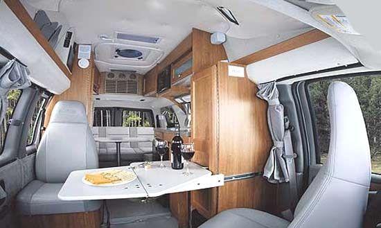 roadtrek 170 popular class b motorhome interior seating and roadtrek 170 popular class b motorhome interior seating and table arrangement