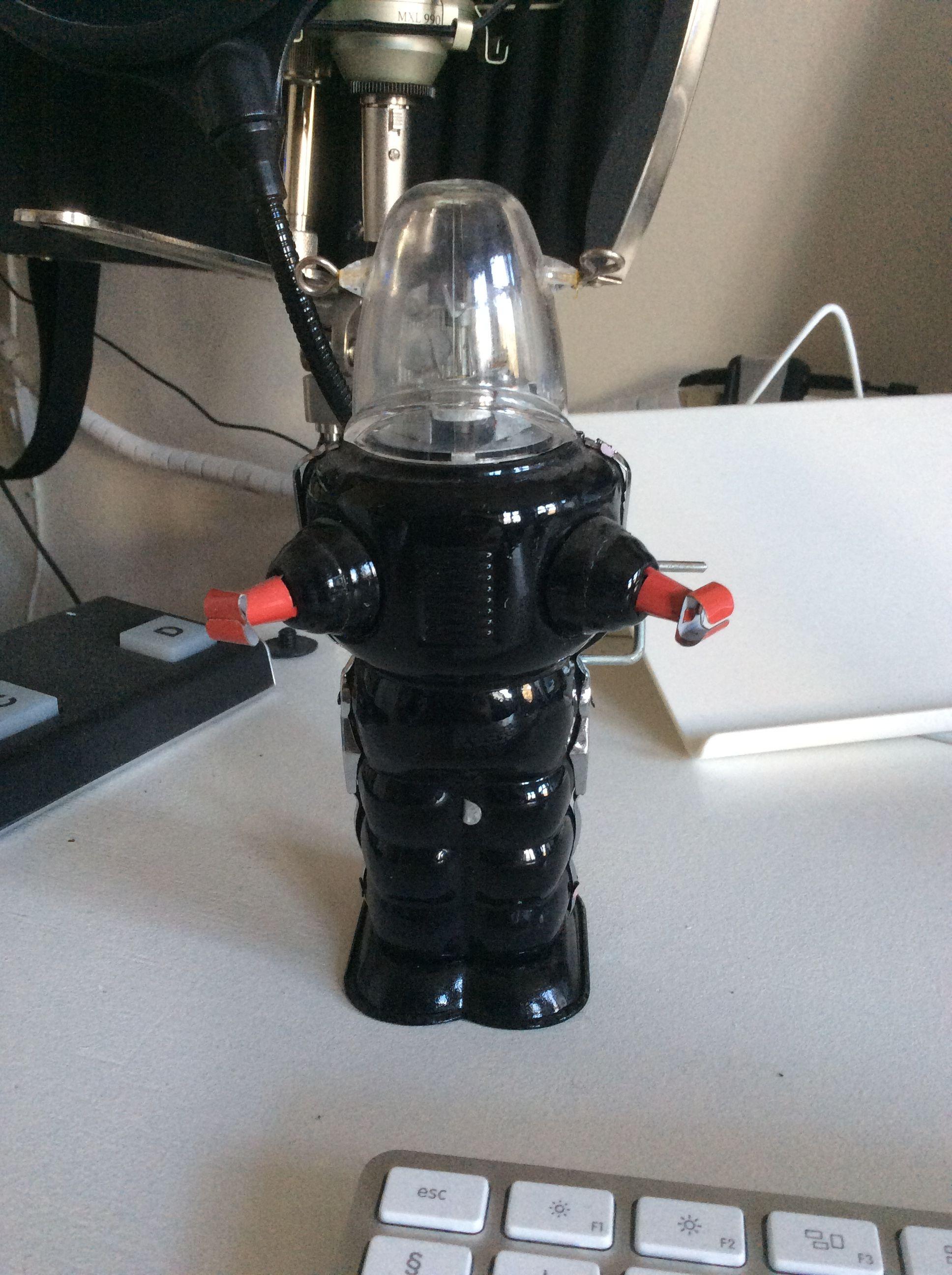 Roky Robot er opkaldt efter den mærkelige amerikanske sangskriver Roky Erickson. Roky Robot er dog ikke så mærkelig som Roky Erickson. Han kan godt li' Blomster.