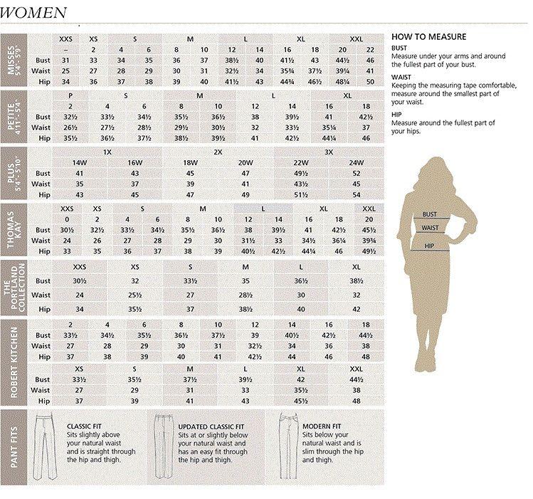 Women S Pendleton Clothing Size Chart Clothing Size Chart Dress Size Chart Women Pendleton Clothing