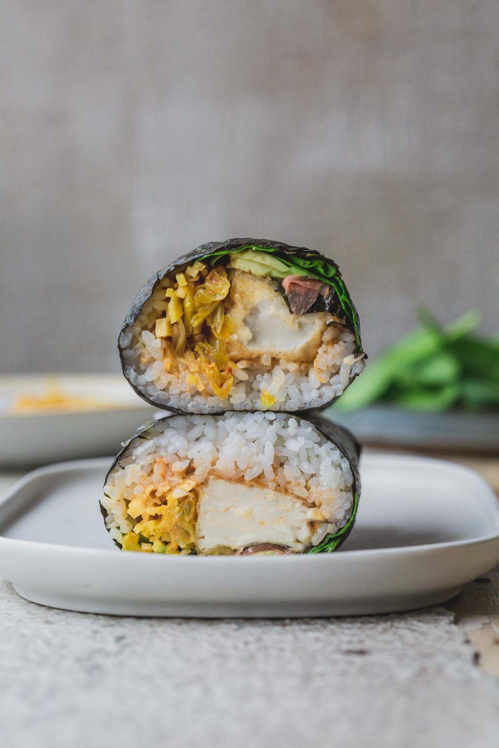 Crispy tofu sushi burrito recipe with images tofu