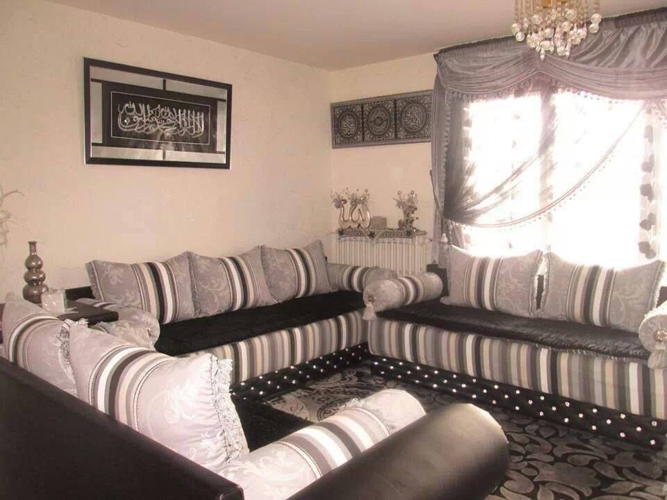 canap salon marocain oriental et moderne plafond platre. Black Bedroom Furniture Sets. Home Design Ideas