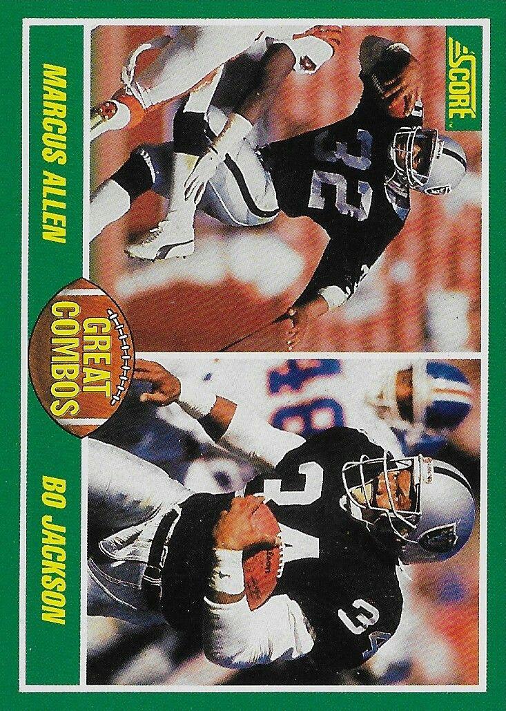 1989 score marcus allen and bo jackson football season