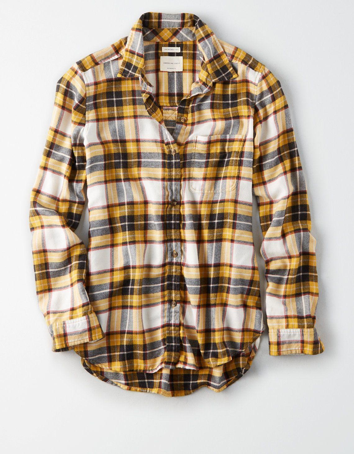 40f89ee1d AE Soft Flannel Boyfriend Shirt - medium | Christmas List in 2019 ...