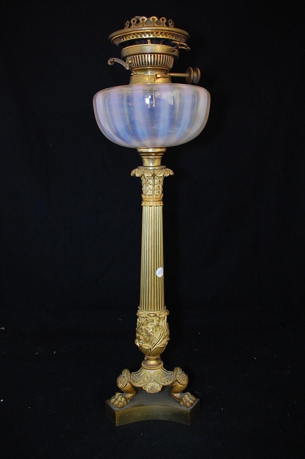 In art antiquit s meubles d coration xix me eclairage lampes lampes lampe a petrole - Lampes de salon anciennes ...