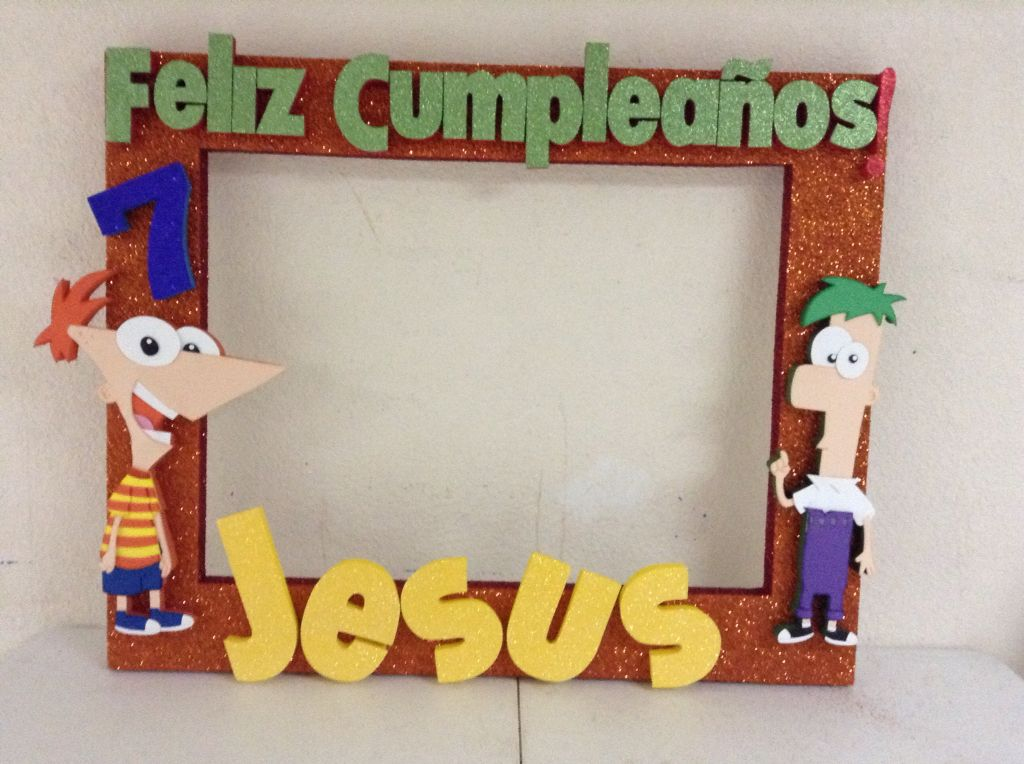 Phineas y ferb | Marcos personalizados | Pinterest | Photo booth and ...