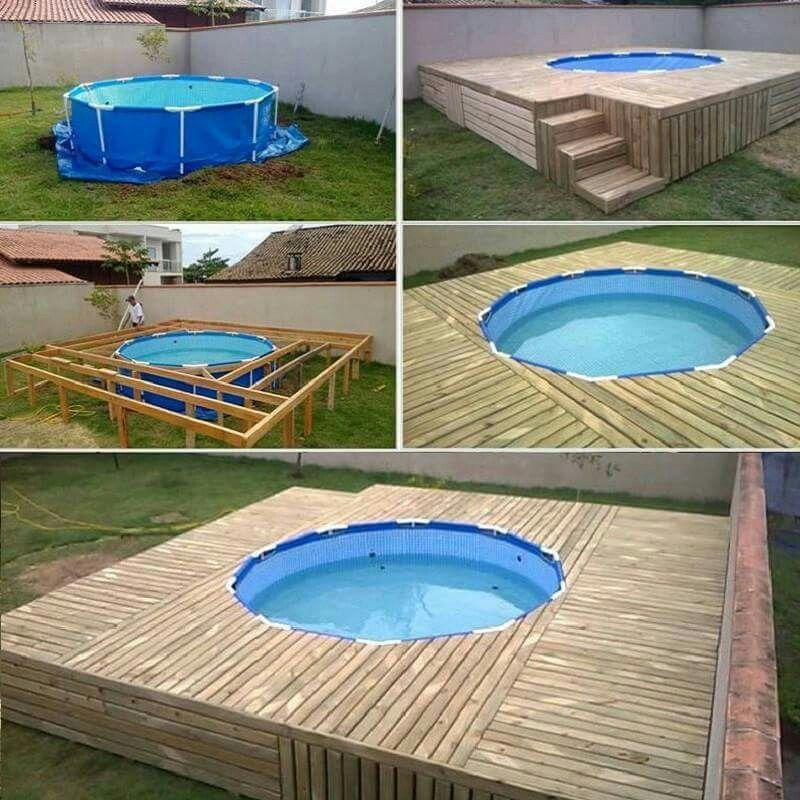 pool deck diy projects pinterest g rten. Black Bedroom Furniture Sets. Home Design Ideas