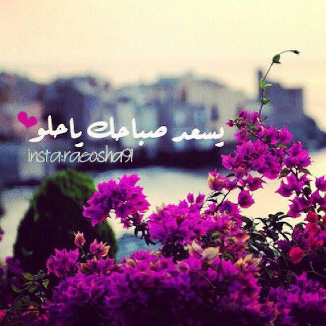 Mego يسعد صباحك يا حلو صباحيات صباح الخير الورد الفل الياسمين Morning Love Quotes Good Morning Love Morning Words