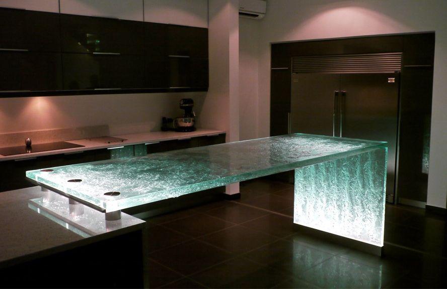 oberfl che aus glas k chenarbeitsplatten und bars von think glass pinterest. Black Bedroom Furniture Sets. Home Design Ideas