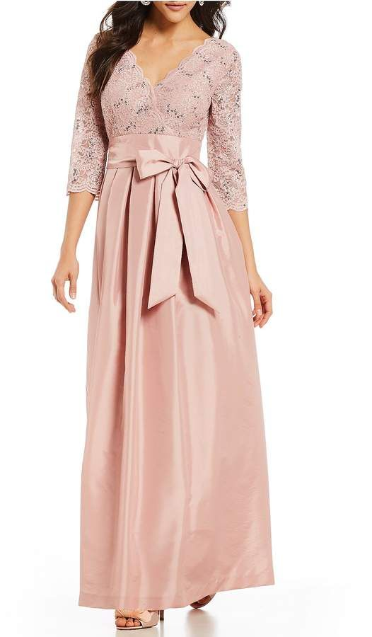 Jessica Howard Lace Bodice Bow Tie Front Gown | Vestidos | Pinterest ...