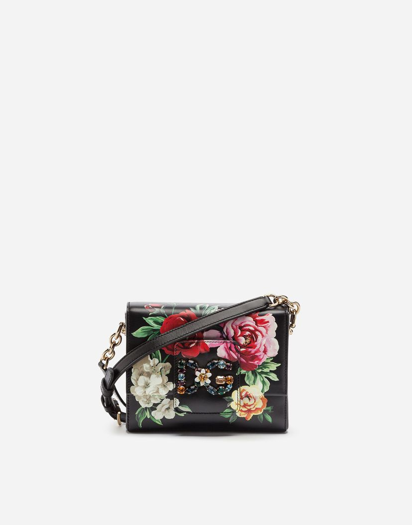 1a0f4f89a1758 Dg millennials cross-body bag in raffia with decorative patches in ...