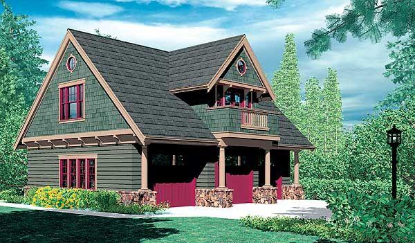Plan 69080am Garage Cottage Carriage House Plans Craftsman Style House Plans Craftsman House Plans
