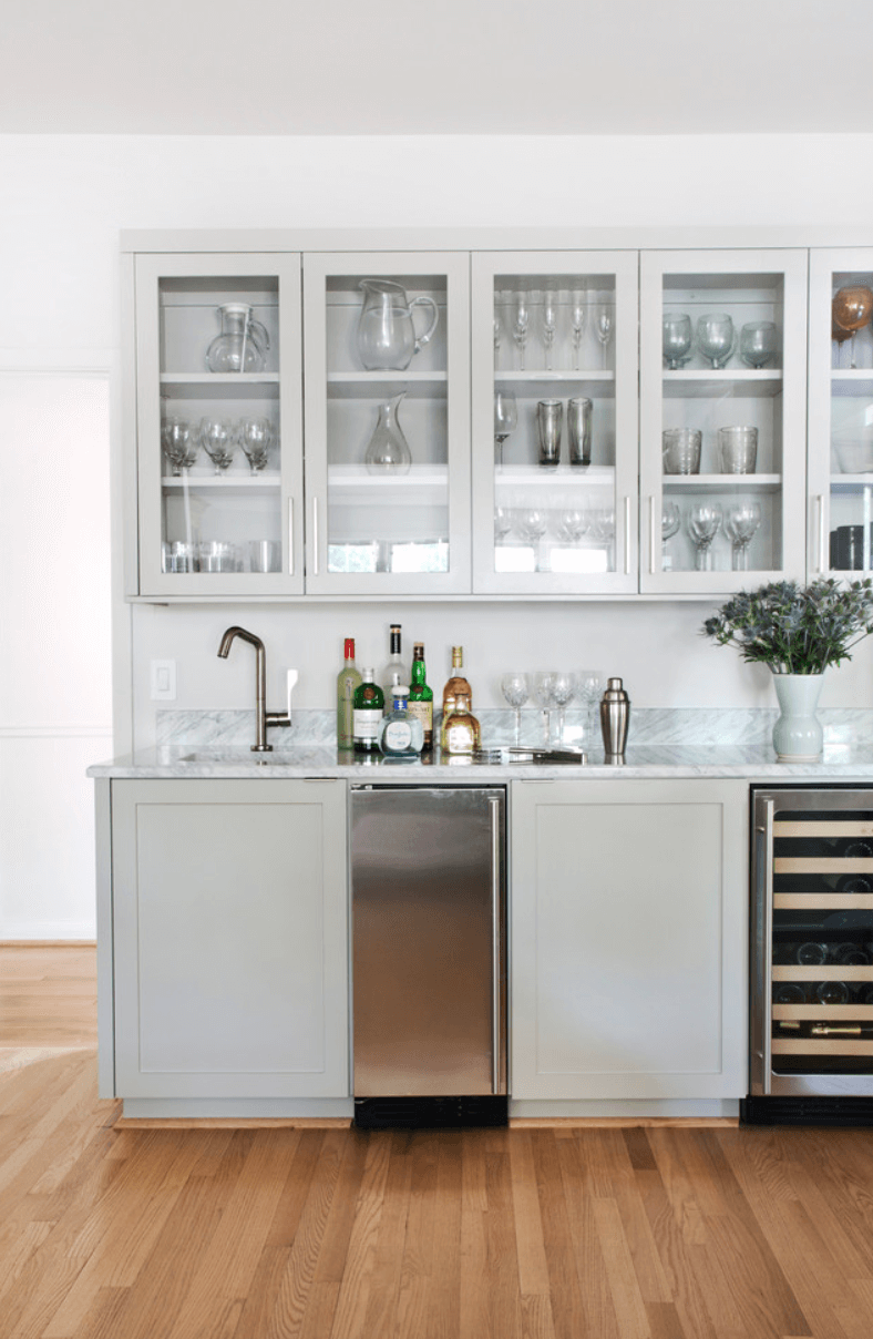 Sleek Stainless Steel Appliances The addition of appliances to a bar ...