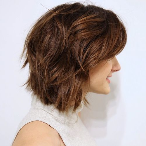 40 Stylish Hairstyles And Haircuts For Teenage Girls Girl Haircuts Thick Hair Styles Short Wavy Hair