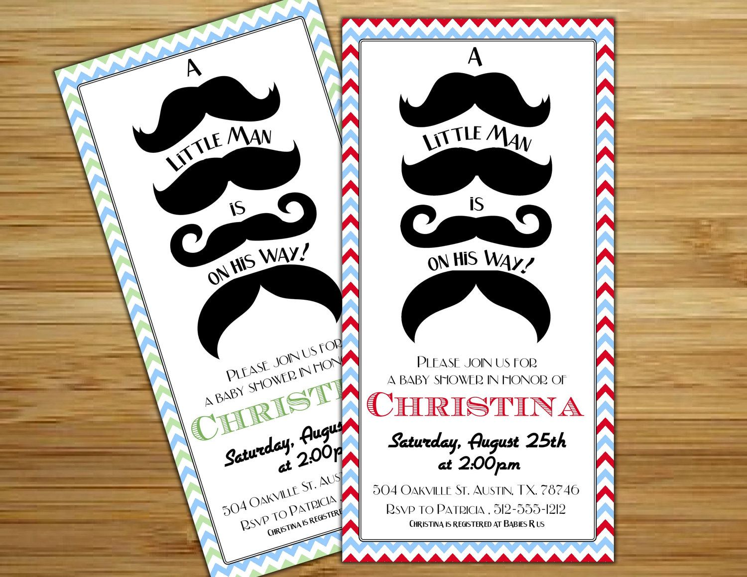 Mustache baby shower invitation - Little man mustache boy baby ...