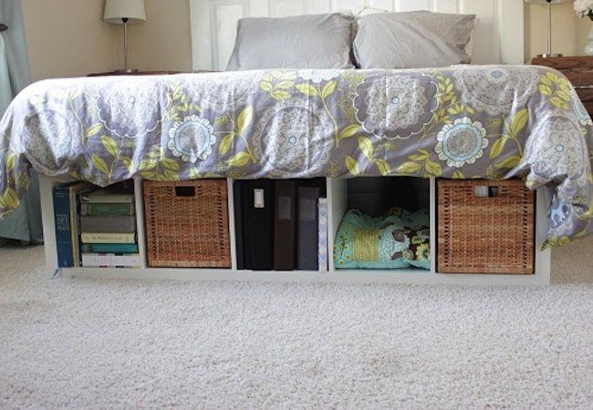 diy platform bed 5 you can make - Bed Frame With Shelves