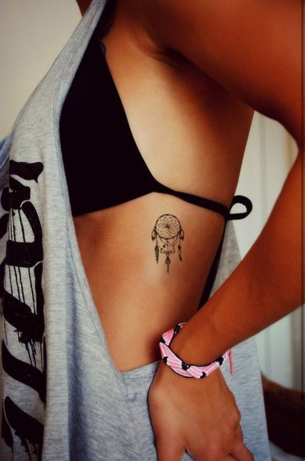 Dream Catcher Tattoo On Side Cool Pretty Dream Catcher Tattoo Tattoos  Pinterest  Tattoo Tatoos