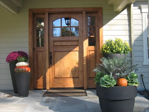 Fall Decor around Front Door Houzz - Home Design, Decorating and ...