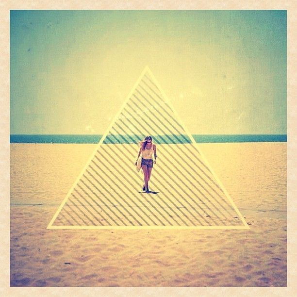 solemn... #lone #triangle #hipster #beach #venicebeach #girl #design #graphicdesign #igers #instacollective   Flickr - Photo Sharing!