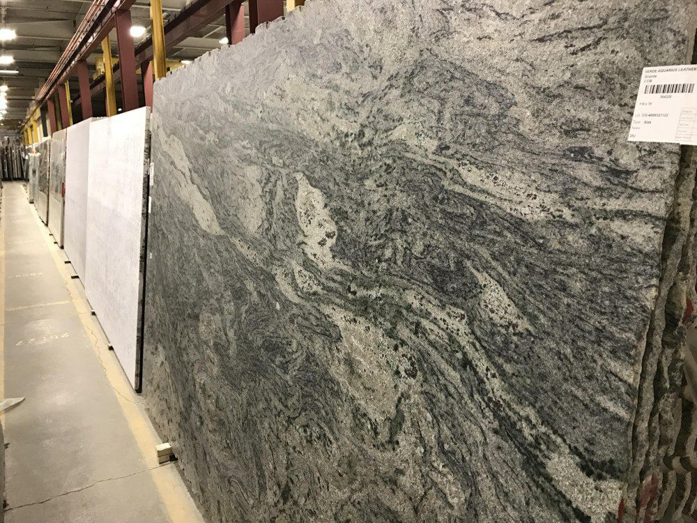Elegant Verde Aquarius Leather Granite Countertop Material Is Available In Any Of  Our Locations In King Of