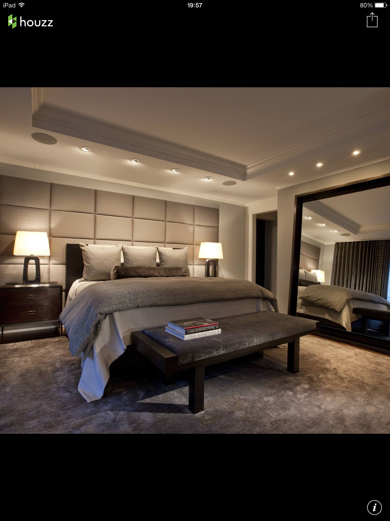 contemporer bedroom ideas large. Love The Modern Design In This Bedroom With Romantic Lighting. LOVE Huge Headboard Wall And Large Oversized Mirror , I Like Area Contemporer Ideas