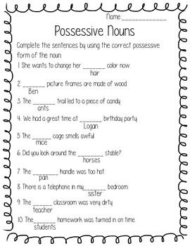 Possessive Nouns and Pronouns | Reading/ Language Arts | Possessive ...