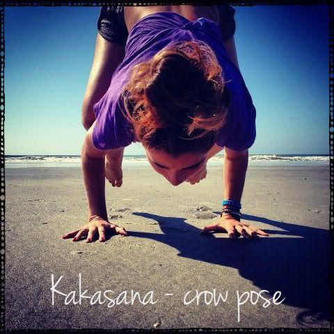 yoga tip crow pose — yogabycandace  crow pose yoga crow