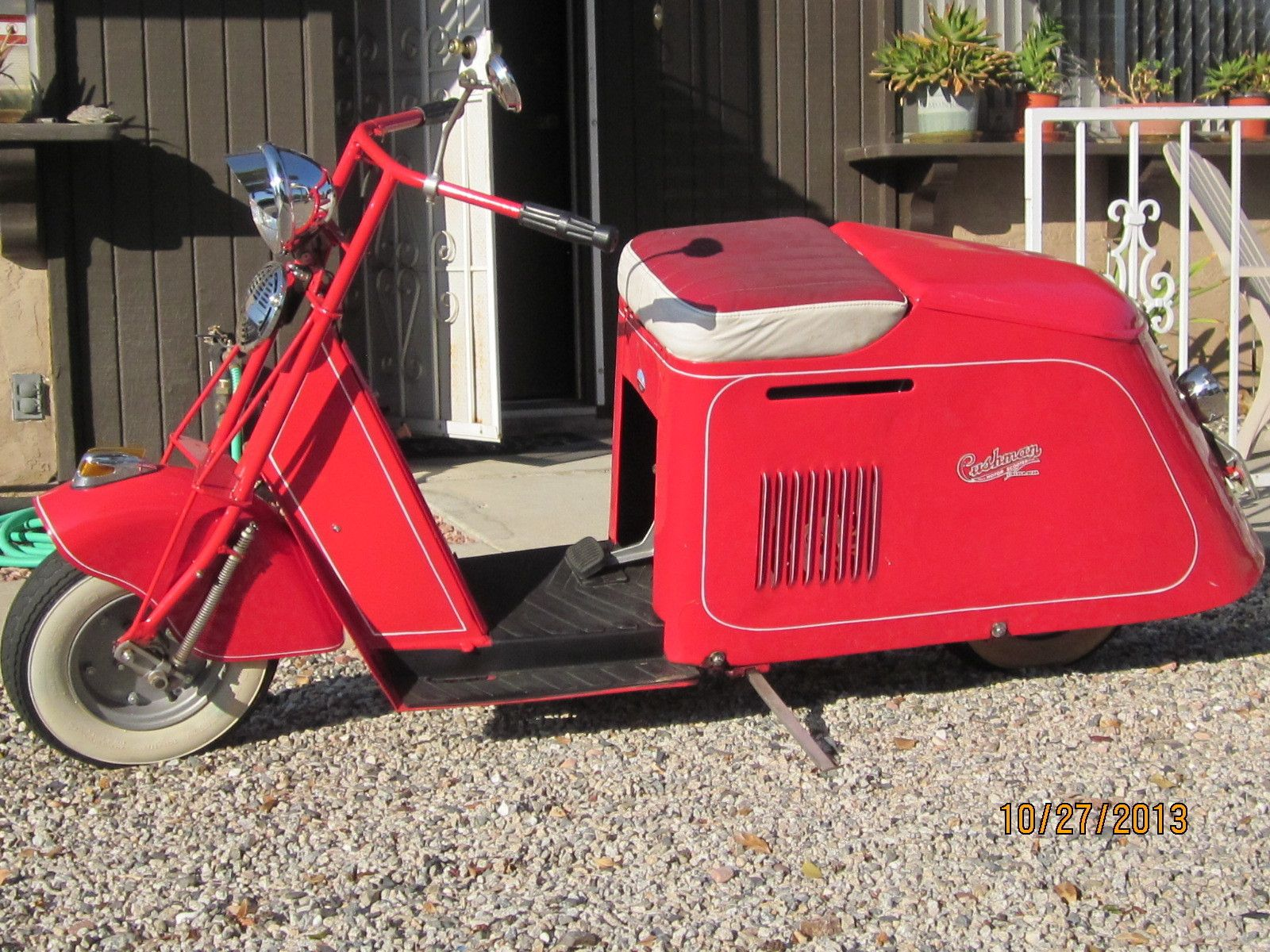 1946 Cushman Motor Scooter Step Through Motor Scooters Scooter Mini Bike
