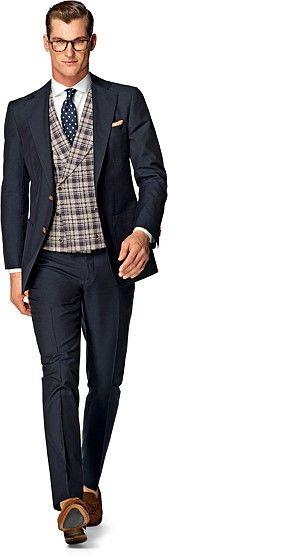 Costumes Pour Hommes · Hommes Élégants · Suit Navy Plain Hudson P4264I f52f4fd000a0