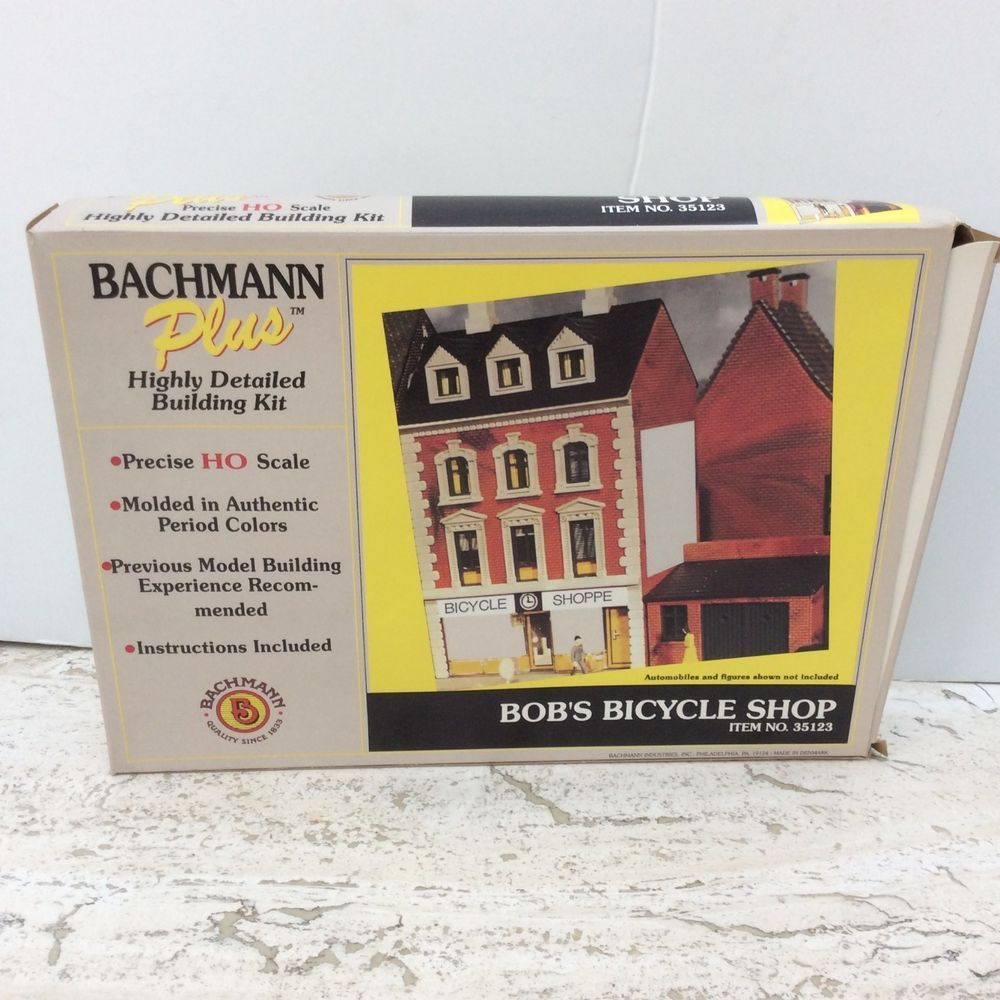 Bachmann Plus Bob's Bicycle Shop HO Scale Building Kit No