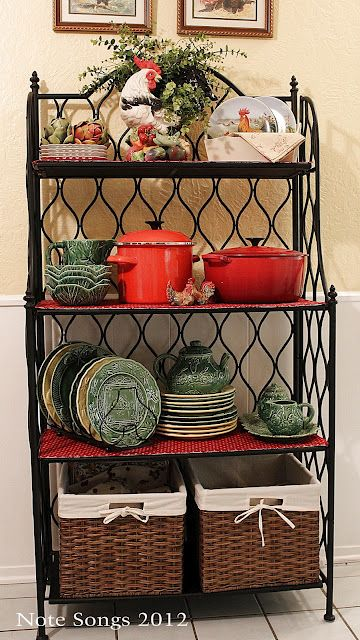 Note Songs French Country Bakers Rack Bakers Rack Decorating