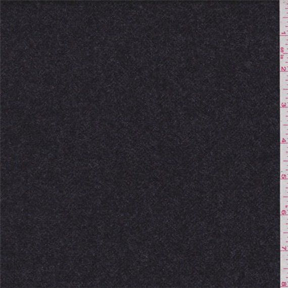Heather Black Cashmere Fabric By The Yard Heather Black Cashmere Fabric Black Cotton