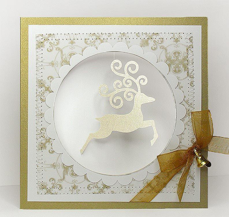 Swirly Reindeer Bird's Cards Sample christmas cards