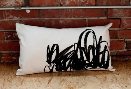Black Tangled Lumbar Pillow by Such Sweet Tierney $60