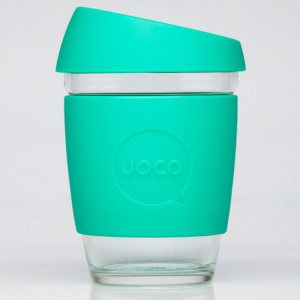 JOCO glass coffee cup mint Biome Eco Stores Reusable