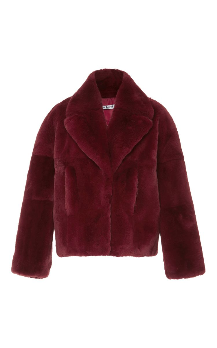 Fur Coat By Cacharel Now Available On Moda Operandi Burgundy Fur Coat Fur Coat Coat