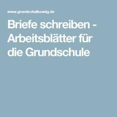 Briefe Schreiben Arbeitsblätter Für Die Grundschule Schule Deutsch