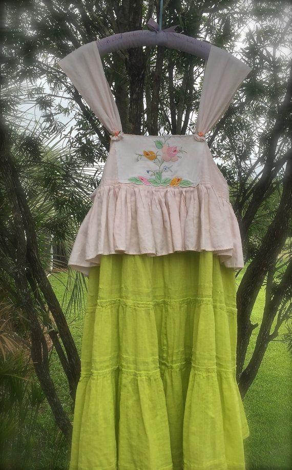 Sweet Bo-Peep Style Rustic Romantic Dress Sweetheart by IzzyRoo