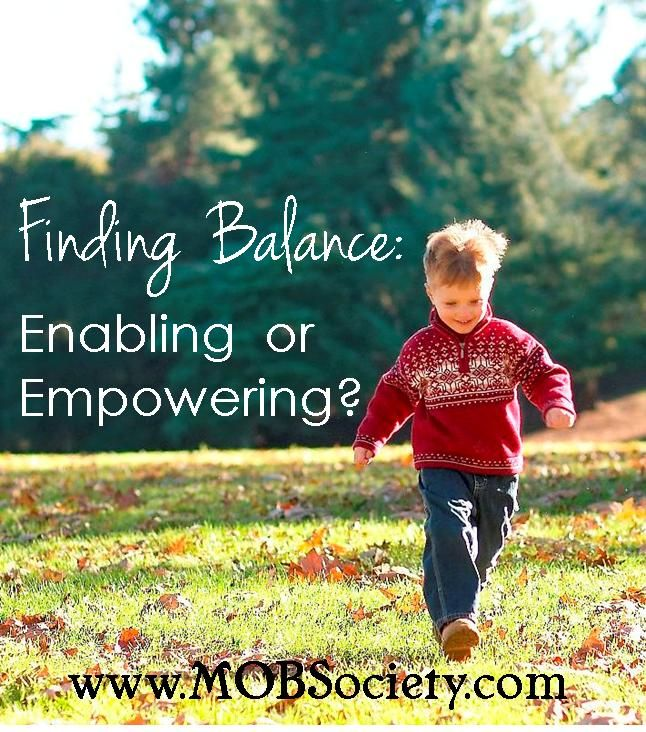 I tip-toe that fine line between hovering and empowering. Enabling, encouraging and protective. How do we know the difference? Click over to read this new post from the #mobsociety.