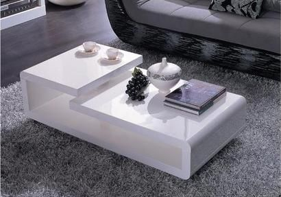 Merveilleux Vig Furniture Modrest 5011C Modern White Lacquer Coffee Table