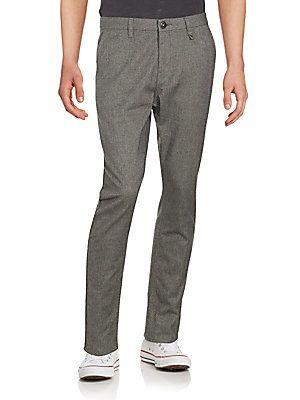 Howe Flat-Front Cotton-Blend Pants - Defender - Size 31