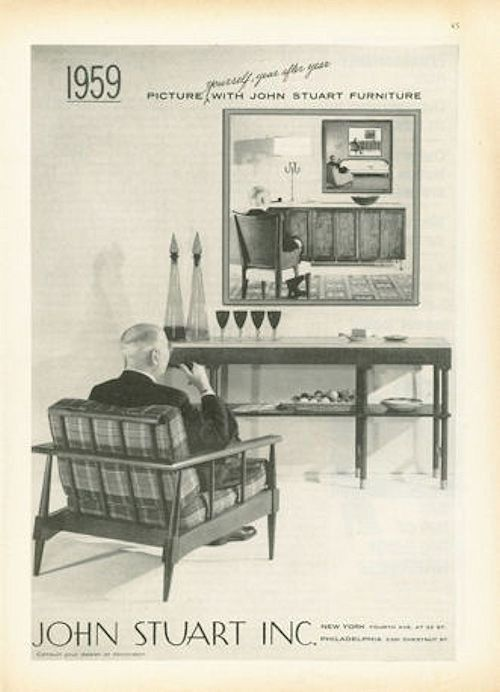 1958 John Stuart Inc Funiture Chair Picture Yourself Fantastic Vintage Print Ad Ebay