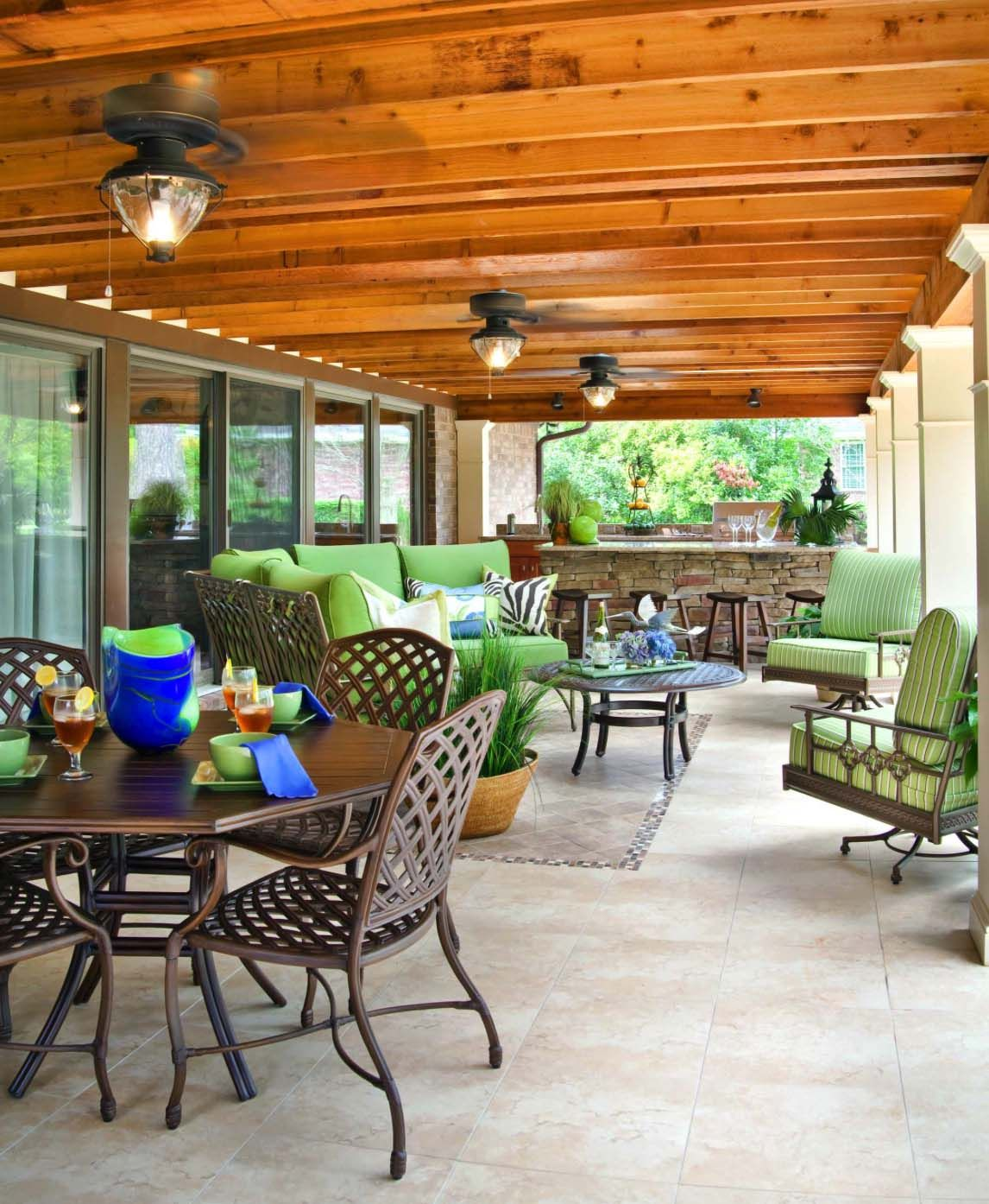 Covered Patio Outdoor Patio Lights Ideas