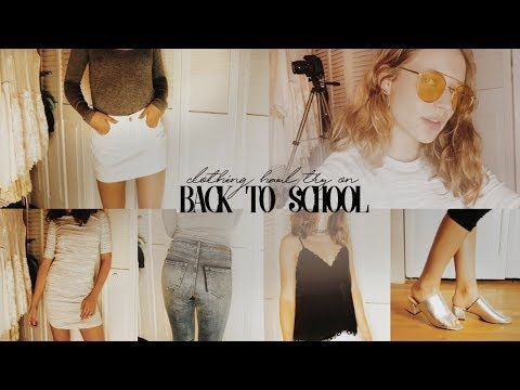 Unboxing Try On Back To School Fashion Clothing Haul Topshop Forever 21 Nordstrom Youtube