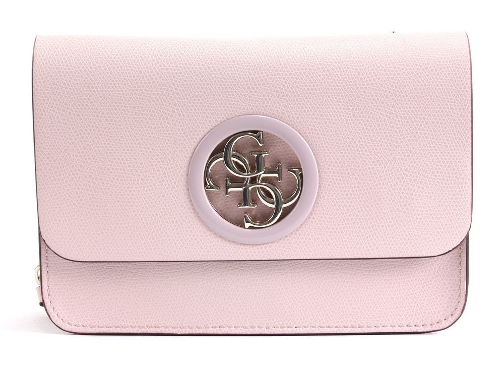 Details zu GUESS Alana Top Handle Flap Handtasche Umhängetasche Tasche Light Rose Rosa Neu