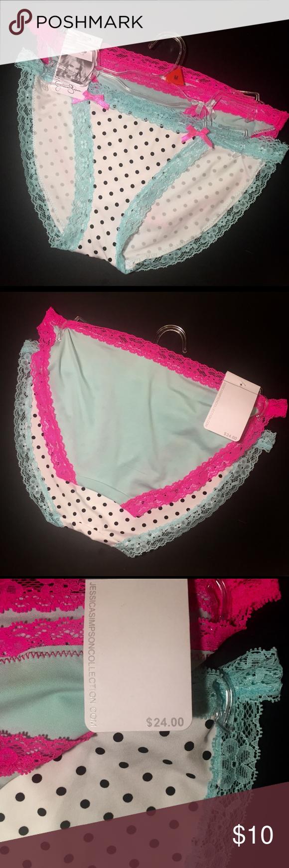 js bikini panties jessica simpson bikini cut underwear one pair is white and black polka