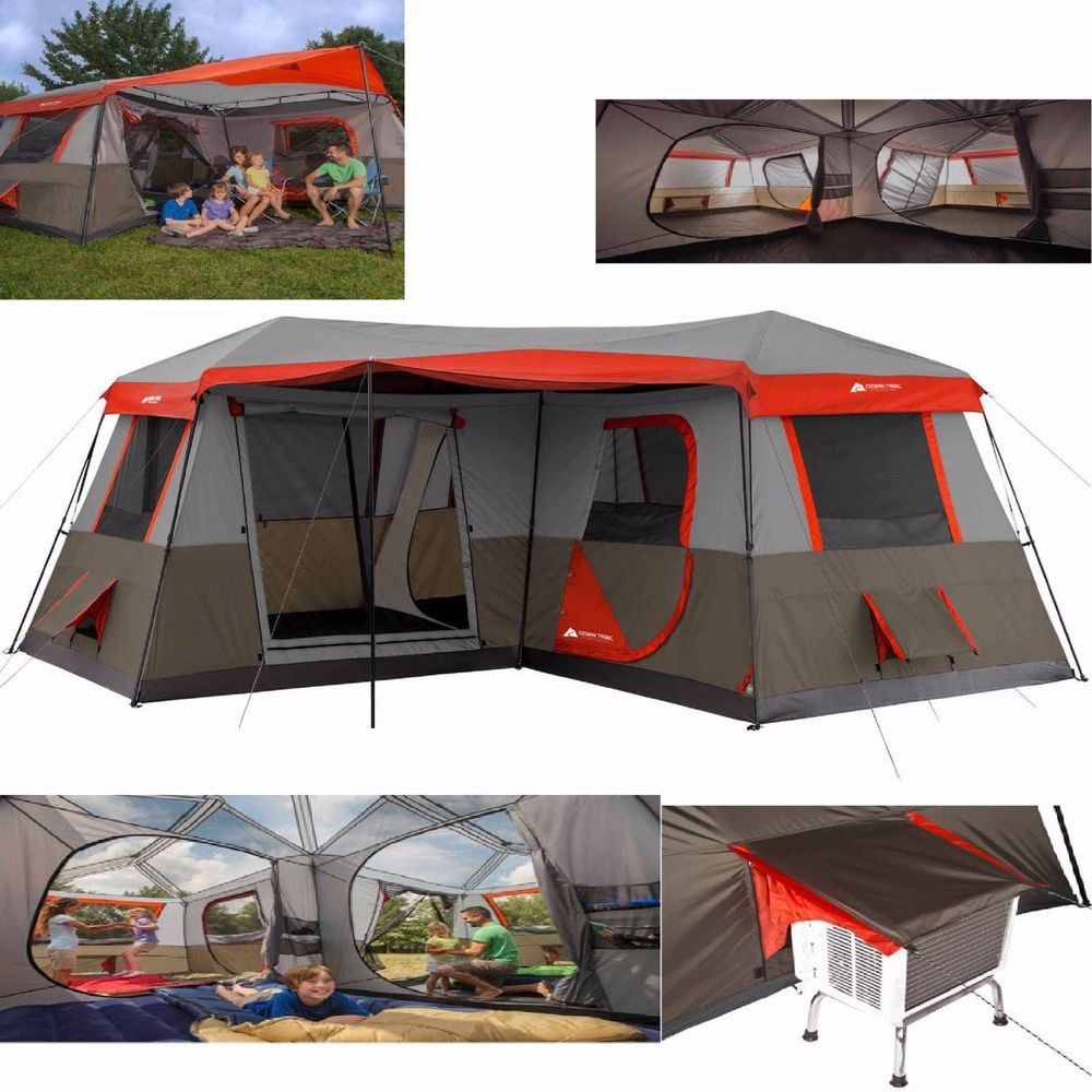 12 Person Large Camp Cabin Tent 3 Room Outdoor Family